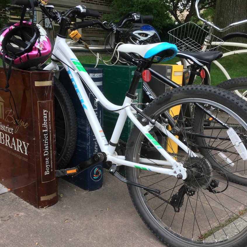 Boyne District Library bike rack