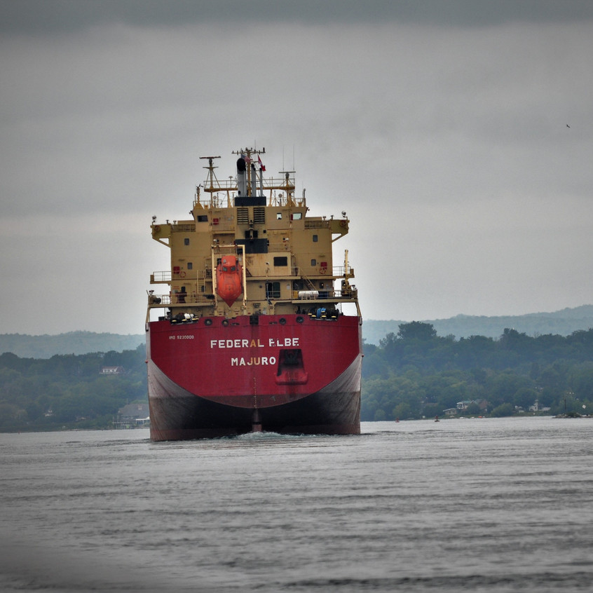Federal Elbe freighter on St