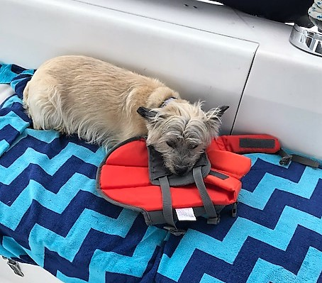 Duncan and life jacket