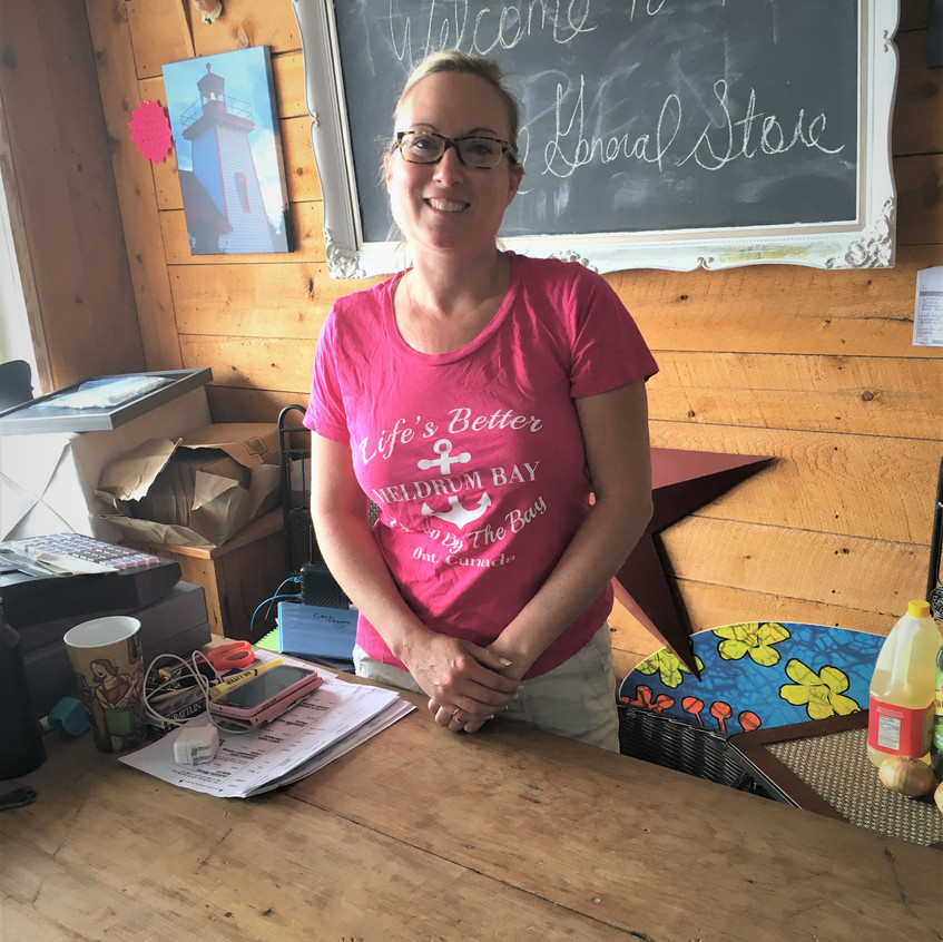 Dawn and her husband Dave have revived the general store in Meldrum Bay