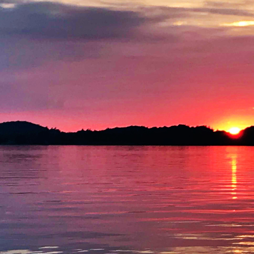 Portage Lake sunset