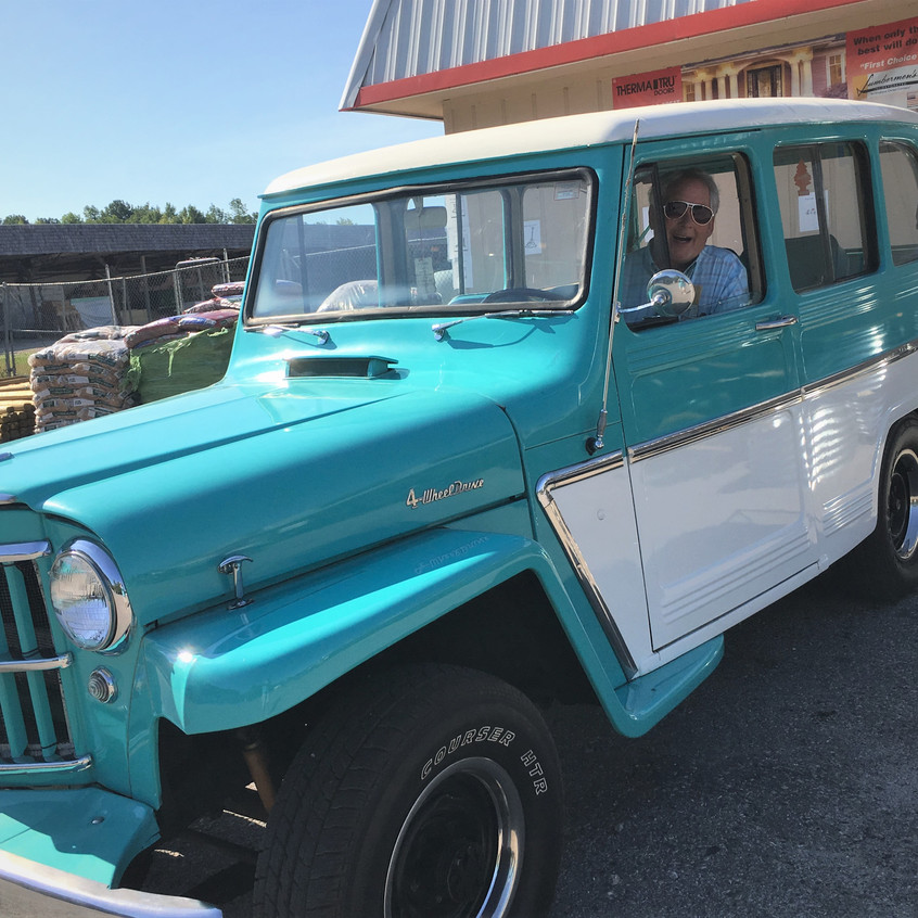 Robert and his 1963 Willys Four wheel drive
