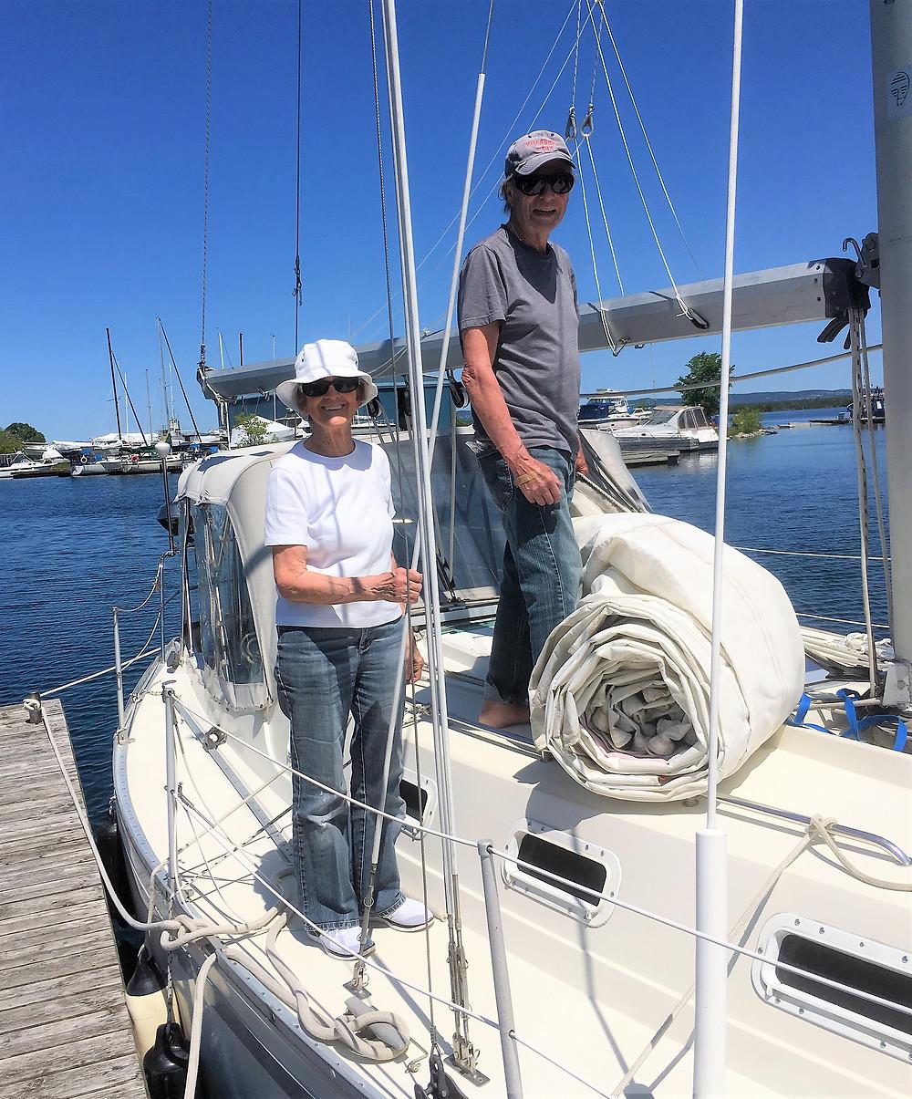 Sailors Bob and Kathy Hall.
