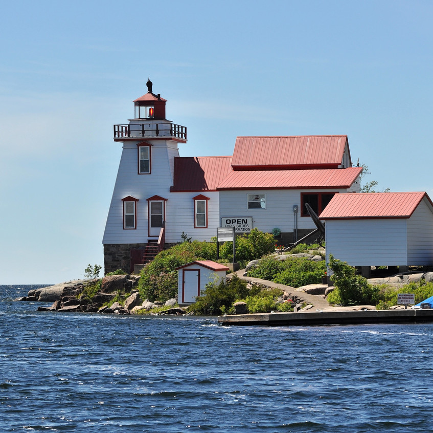 Pointe Au Baril Station lighthouse