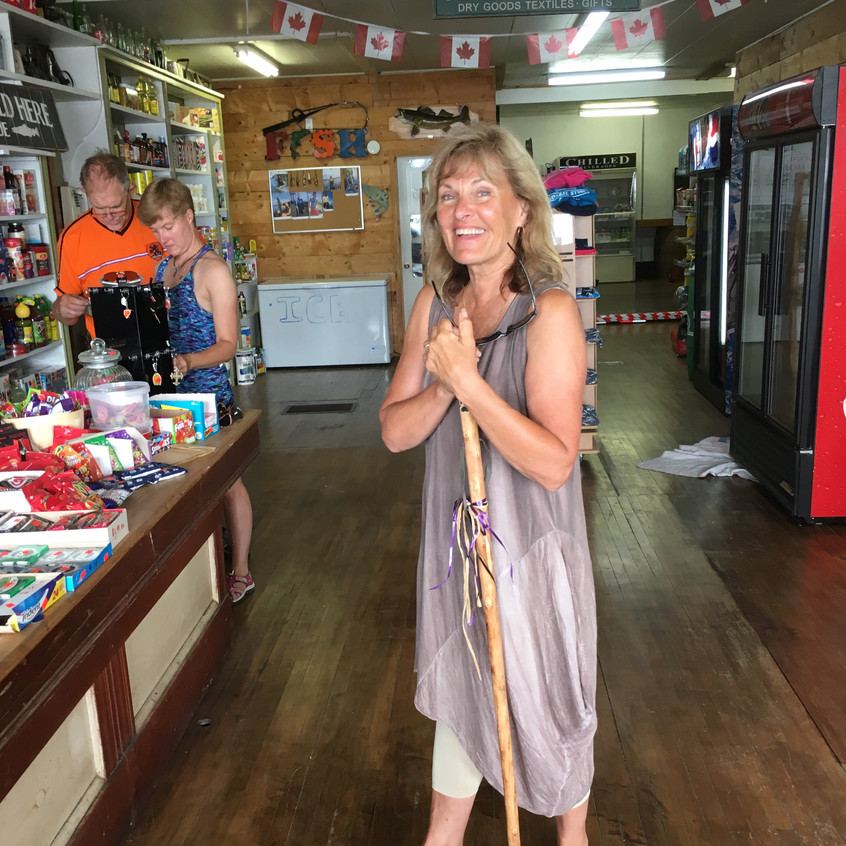 Patty and her husband John are the harbor masters in Meldrum Bay. Patty also helps out at the general store.