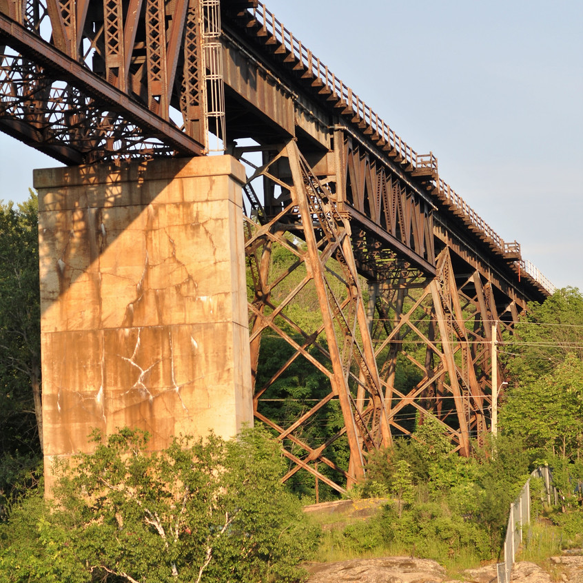CN Railroad tressel in Parry Sound