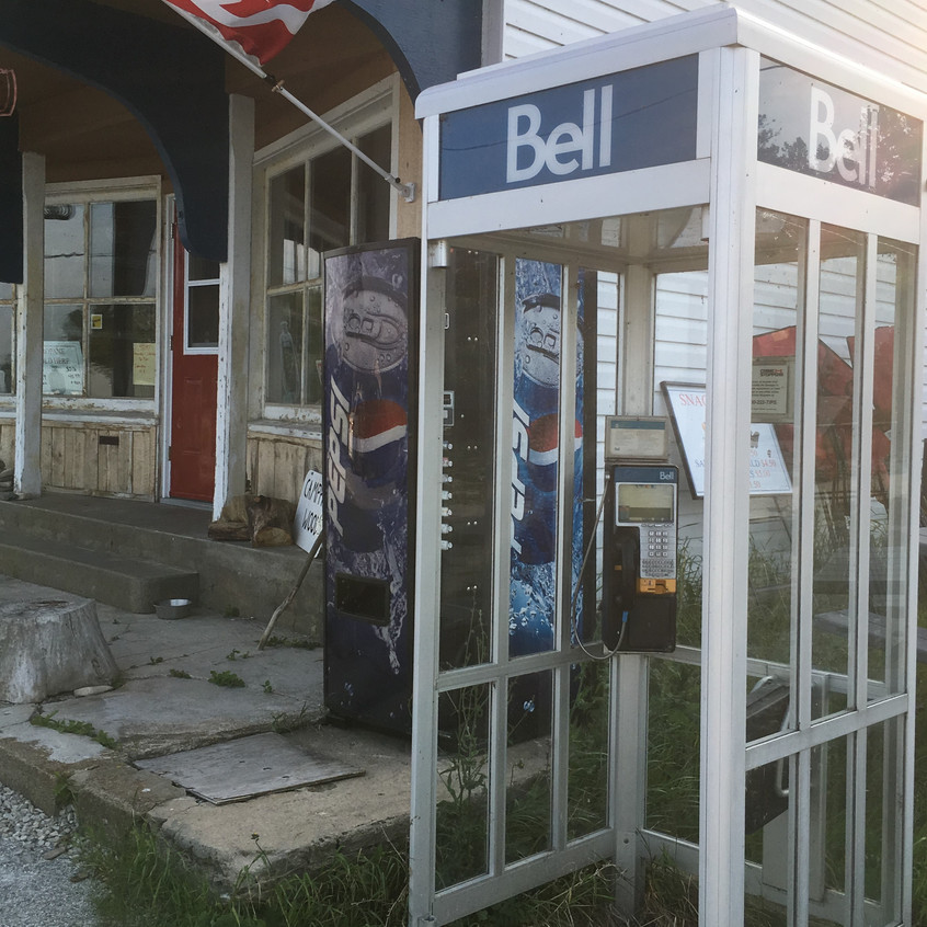 There are still phone booths like this everywhere we go as cell service is so spotty.