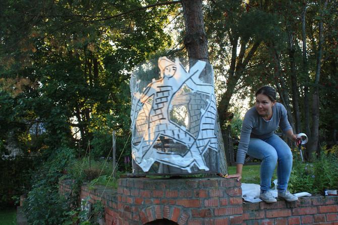 Школа мозаики в деревне Юркино