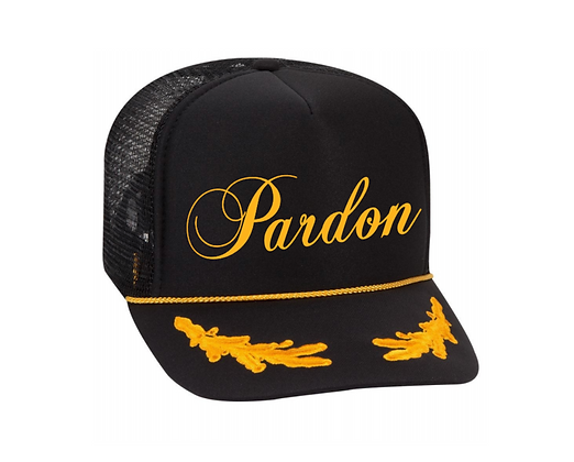 Pardon Trucker Hat By Pardon Thy French -