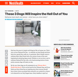 Men's Health | These 3 Dogs Will Inspire the Hell Out of You