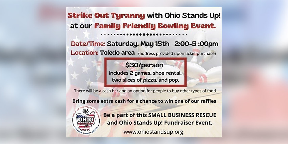 Strike Out Tyranny Bowling Event