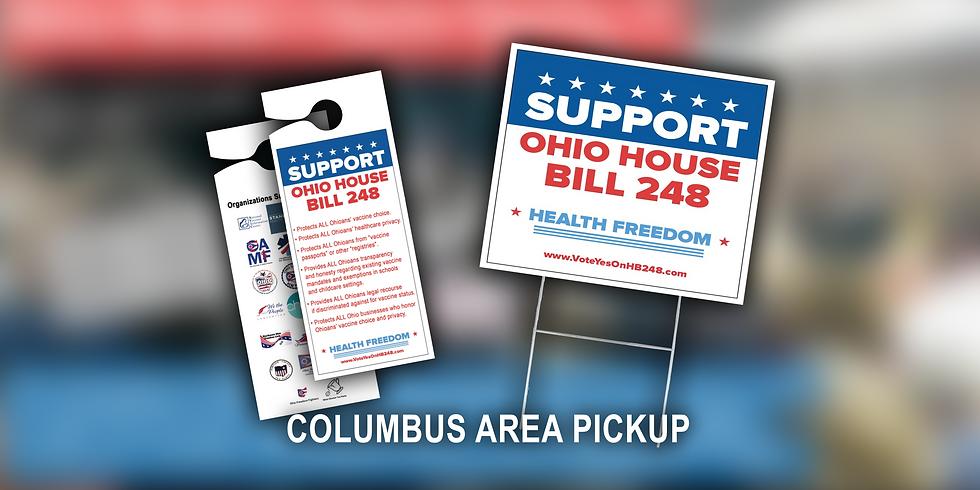 COLUMBUS AREA - HB248 Yard Sign, Door Hanger, & Info Card Pickup Event