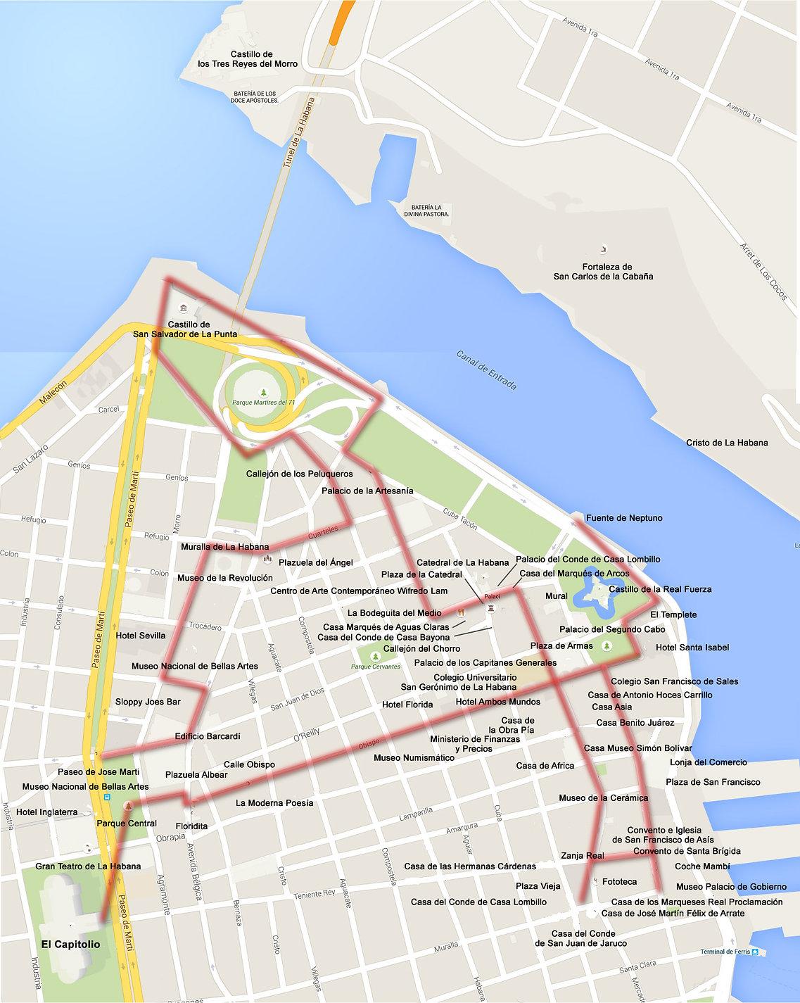 RECCORRIDO 1 La Habana Vieja