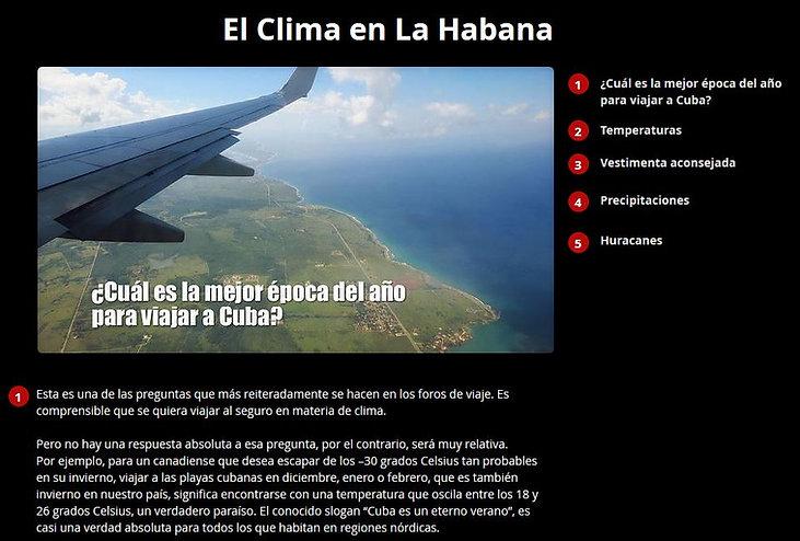 El clima en La Habana, tiempo, temperatura