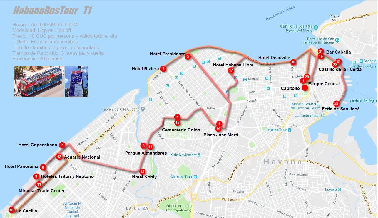 HabanaBusTour T1 MAPA
