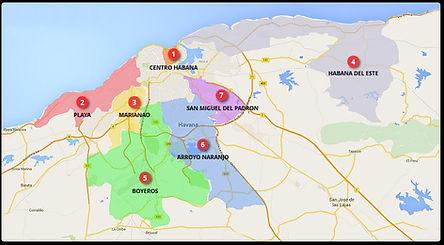 La Habana y otras zonas de interes