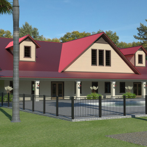 The clubhouse rendering
