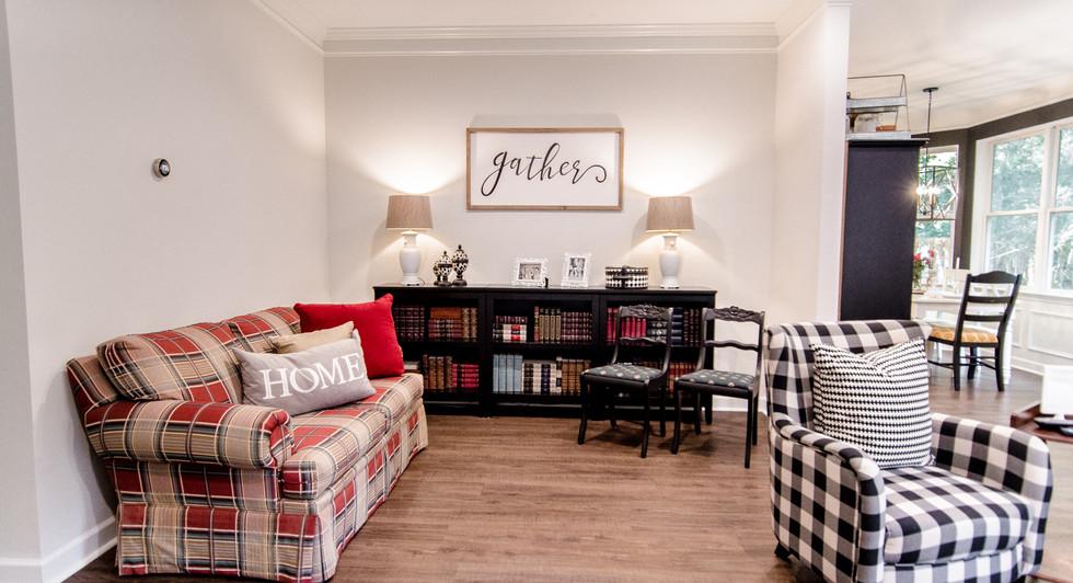 Living Room Carriker Cottage Old Haigler Inn Mint Hill NC Airbnb Charlotte NC 3.jpg