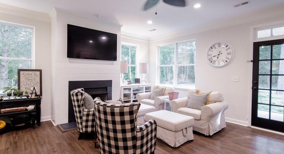 Living Room Carriker Cottage Old Haigler Inn Mint Hill NC Airbnb Charlotte NC 6.jpg