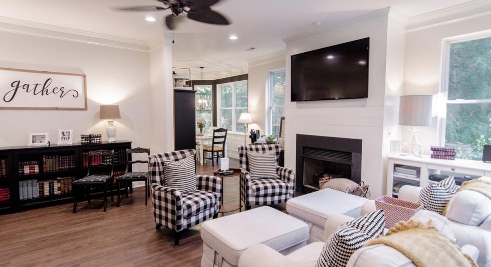 Living Room Carriker Cottage Old Haigler Inn Mint Hill NC Airbnb Charlotte NC 7.jpg