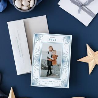 New Years Starburst, Letterpress