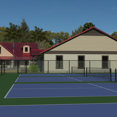 Pickleball Courts Rendering