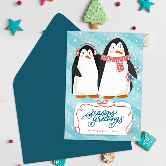 Penguin Pair, Greenvelope.com