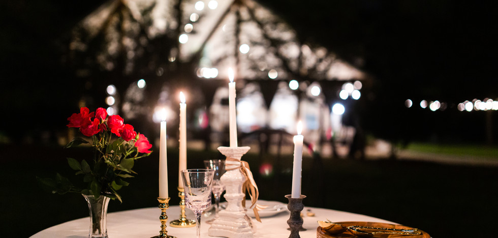 Candlelight Table For Two at Carriker Cottage