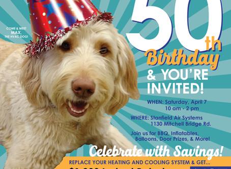 Celebrate Stanfield's 50th Birthday!