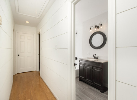 A complete home renovation with shiplap!