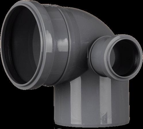Отвод д.110x87° с вых. 50 правый (Синикон)