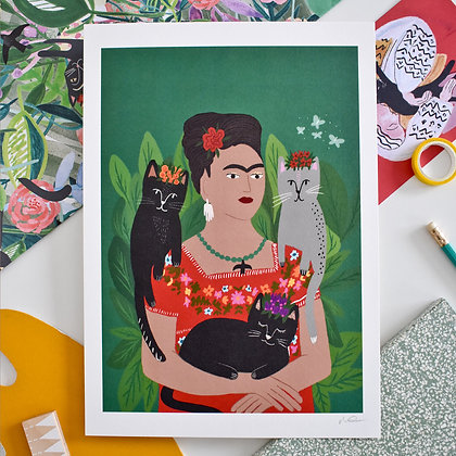 Affiche FRIDA AND HER CATLO'S