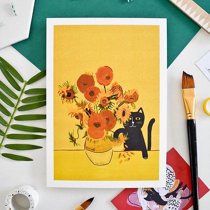 Affiche SUNFLOWER CAT