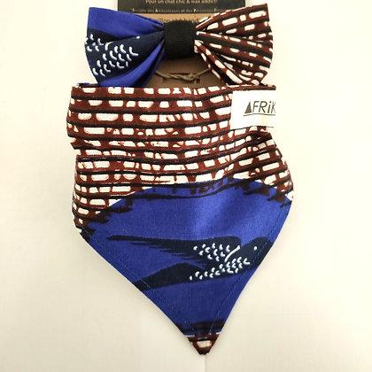 Bandana + collier + noeud papillon pour Chat Afrikat