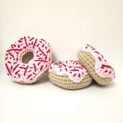 Donuts en crochet fourré à l'herbe à chat