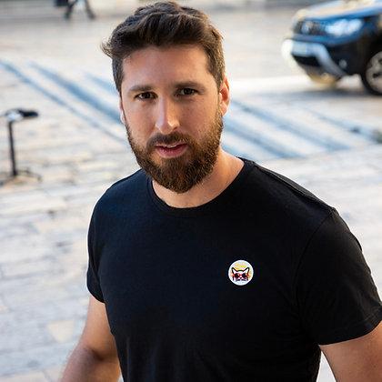 T-Shirt coton Bio Noir, Bleu ou Orange