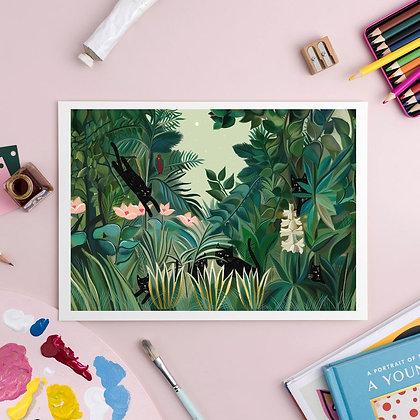 Affiche Jungle chat domestique