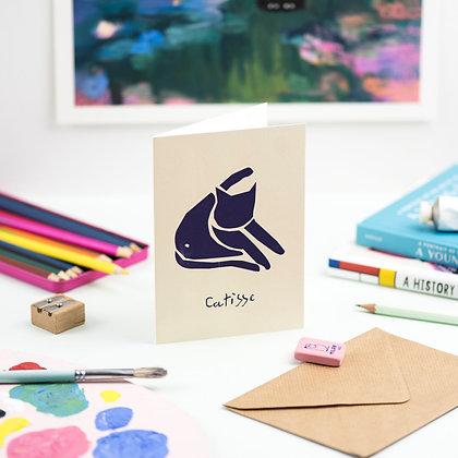 Carte Postale BLUE CAT