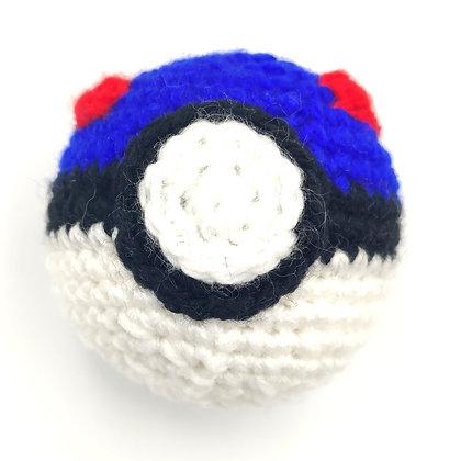 Superball en crochet fourré à l'herbe à chat