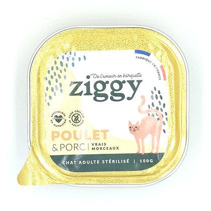 Pâtée Ziggy Chat Adulte Stérilisé - Sans Céréales - Poulet