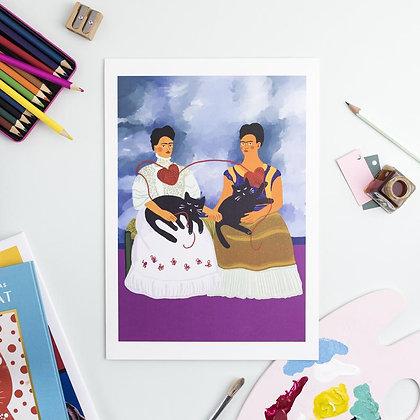 Affiche Love Yourself Frida Cat