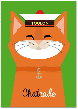 Carte Postale Chatrade design by Offtoulon