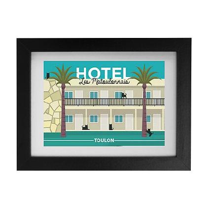 Carte postale Hôtel Les Matoulonnais design by Offtoulon encadrée