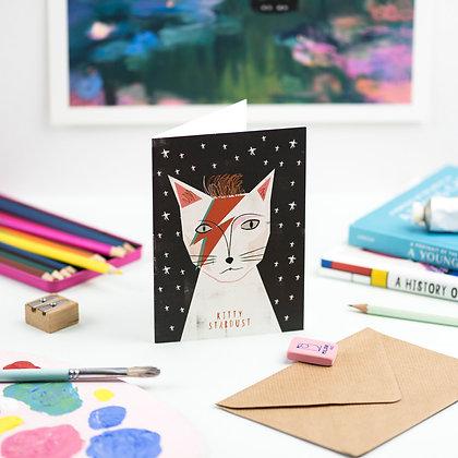 Carte Postale KITTY STARDUST