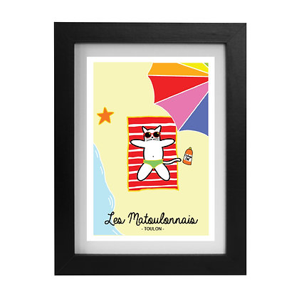 """Carte postale """"Les Matoulonnais"""" encadrée"""