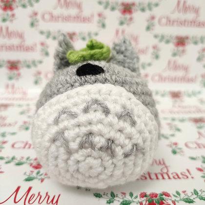Totoro en crochet fourré à l'herbe à chat
