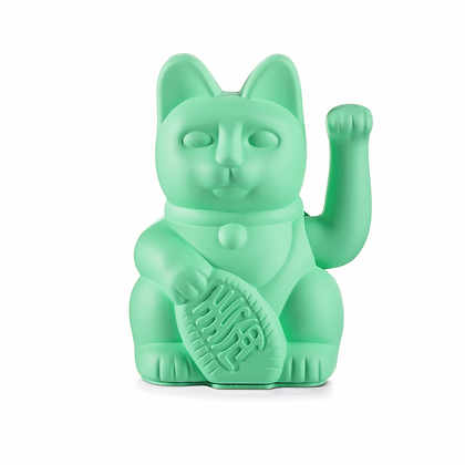 Chat chanceux | menthe verte