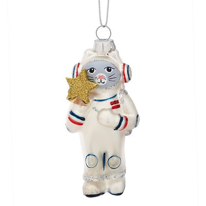 Décoration de Noël Chat Astronaute
