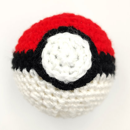 Pokeball en crochet fourré à l'herbe à chat