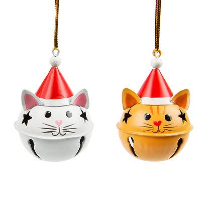 Décoration de Noel grelot chat